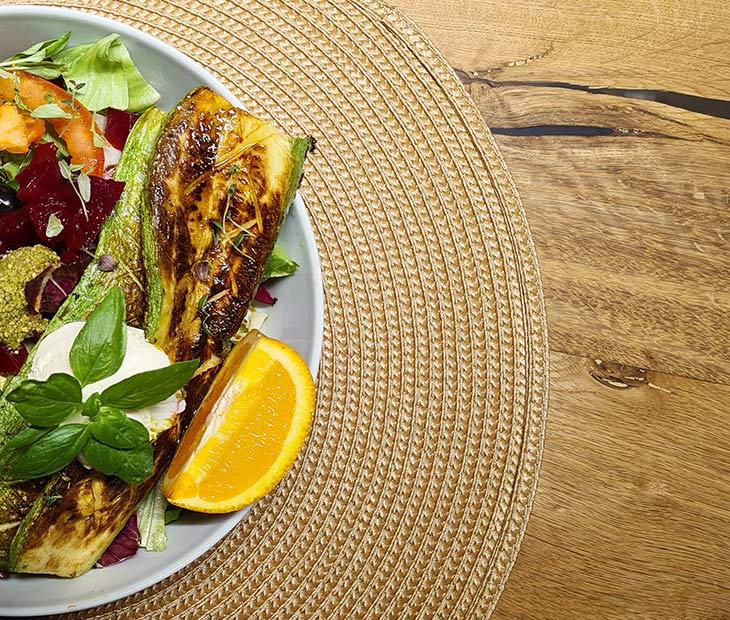Grilled Zucchini and Beetroot Salad recipe
