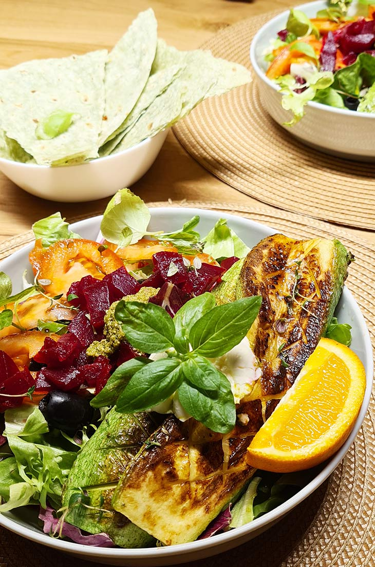Healthy Grilled Zucchini and Beetroot Salad