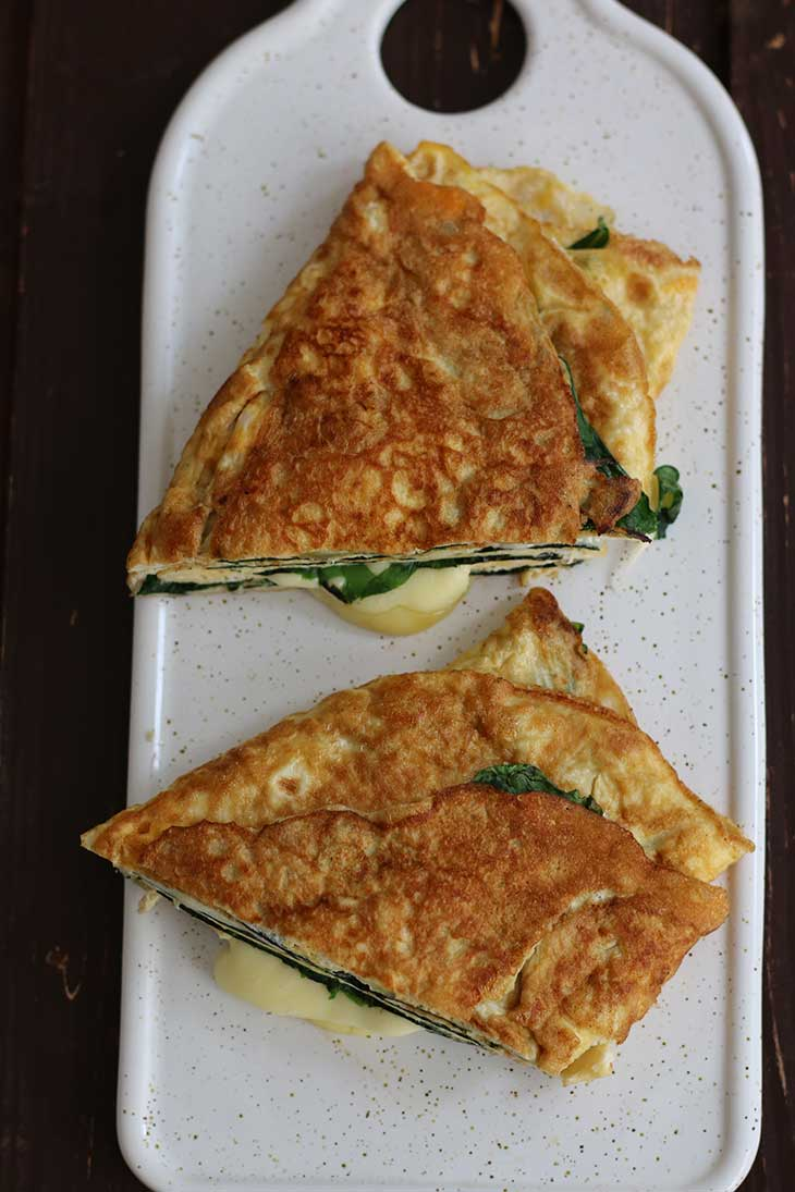 Keto Omelette Recipe with spinach