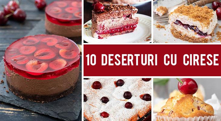 10 Deserturi cu cirese pe care le poti face cu usurinta acasa