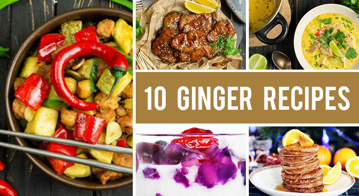 How to Cook with Ginger - 10 Sweet And Savory Recipes with Ginger