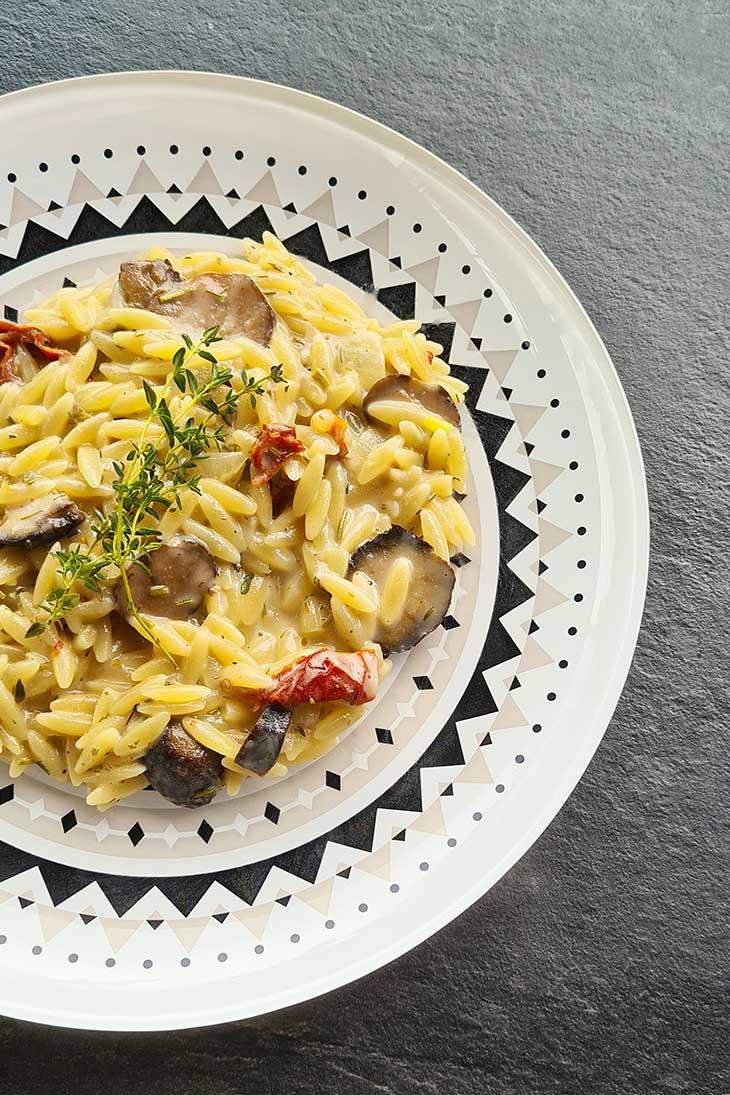 Creamy Truffle Orzo main dish