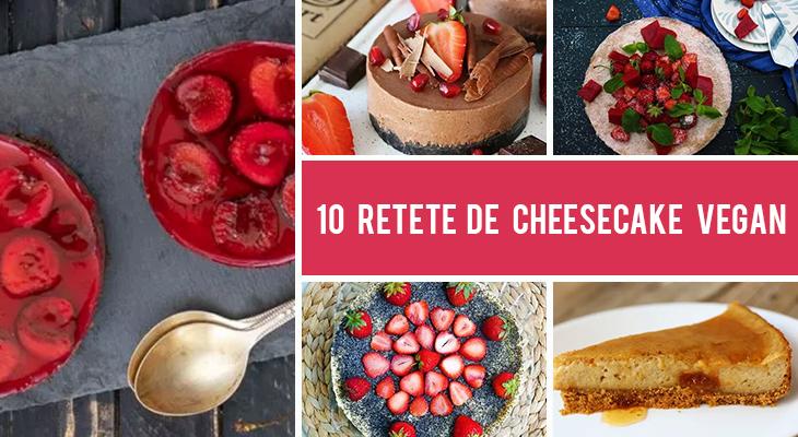 10 Retete vegane de cheesecake pe care sa le faci daca ai pofta de un desert usor