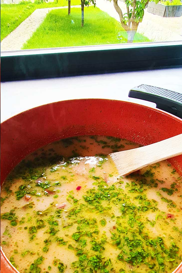 beet greens soup