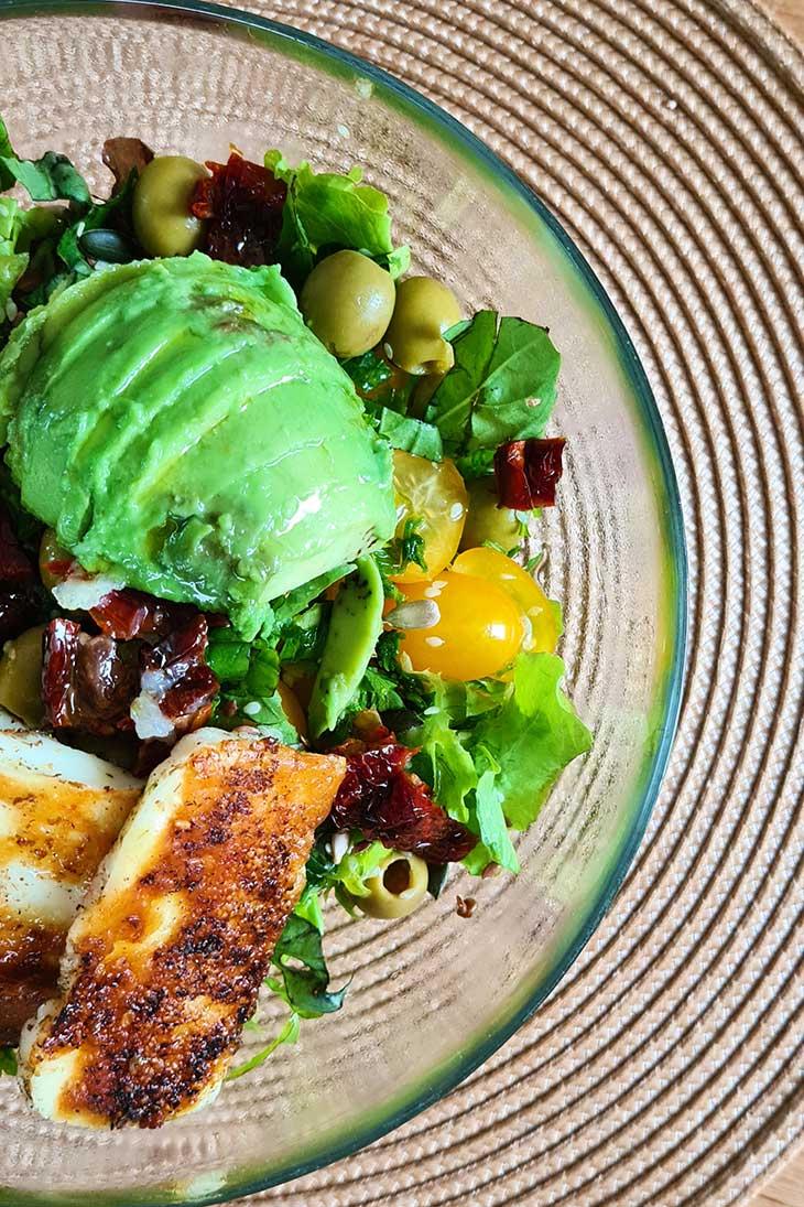 best grilled halloumi salad greek flavors