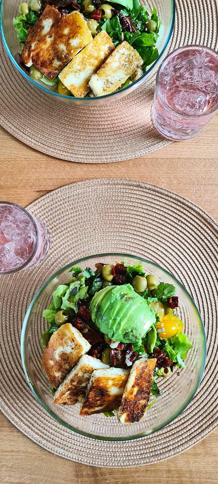 best grilled halloumi salad recipe