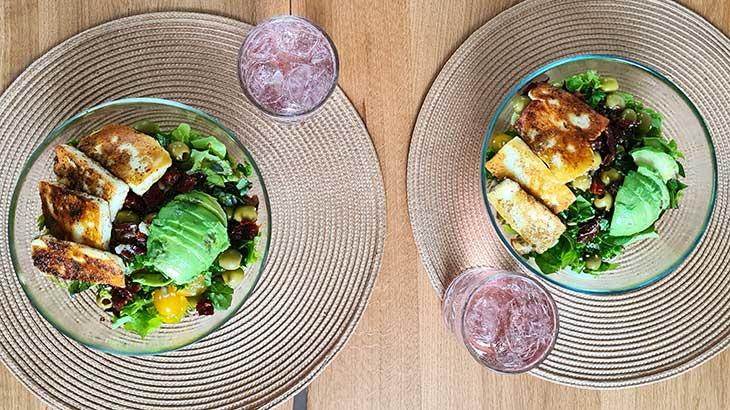 best grilled halloumi salad