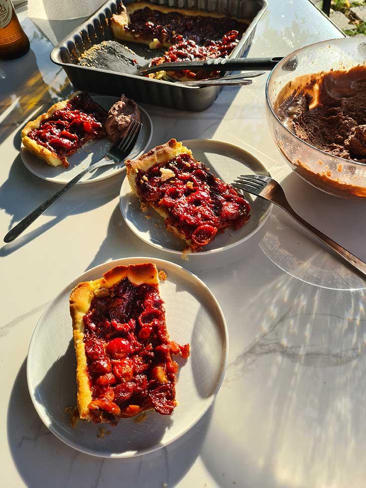 sour cherry tart recipe