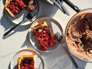 sour cherry tart tarta cu visine reteta