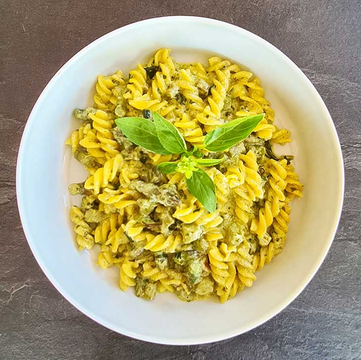 vegan asparagus pasta