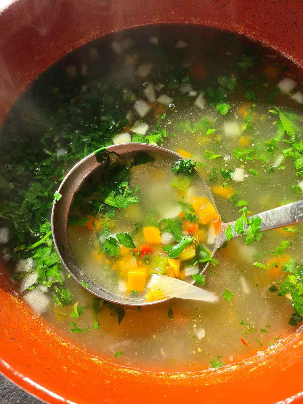 clear veggie soup