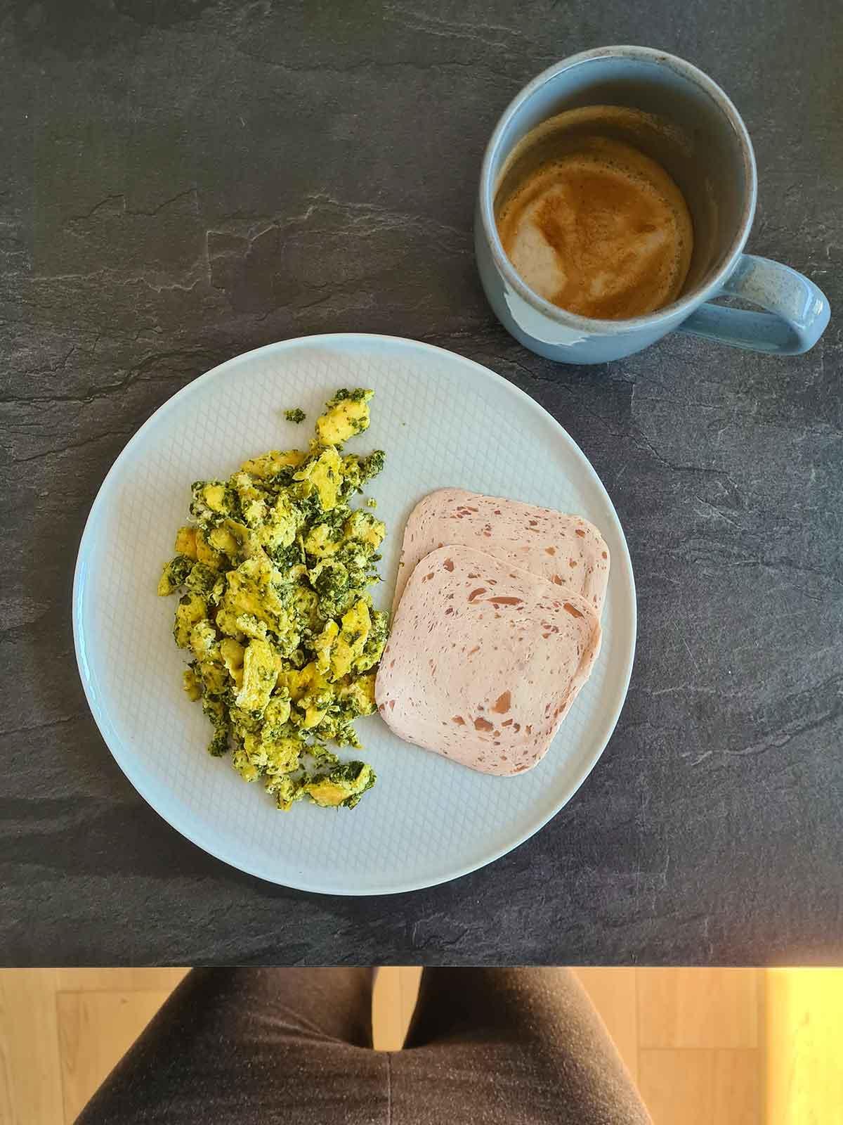 omleta scrob pesto